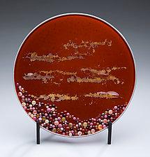Hawaiian Sunset by Denise Bohart Brown (Art Glass Sculpture)