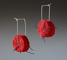 Joomchi Square Hoops by Nancy Raasch (Paper Earrings)