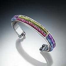 Gemstone Cuff Bracelet by Susan Kinzig (Silver & Stone Bracelet)
