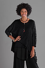 Pucker Asymmetrical Top by Noblu   (Knit Top)