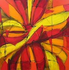 The Knife Cuts The Petal Drops by Lynne Taetzsch (Acrylic Painting)