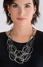 Maya Necklace by Megan Auman (Silver & Steel Necklace)