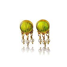 Sea Swept Earrings by Nancy Troske (Enameled Earrings)