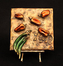 Jalapenos and Habaneros by Darlis Lamb (Bronze Sculpture)