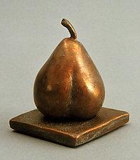 Heartsong Pear—Poire de Heartsong by Darlis Lamb (Bronze Sculpture)
