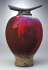 Longhorn by Bruce Johnson (Ceramic Vessel)