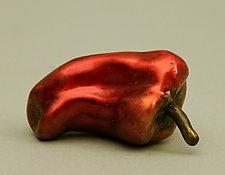 Sweet Red Pepper—Poivron Rouge by Darlis Lamb (Bronze Sculpture)