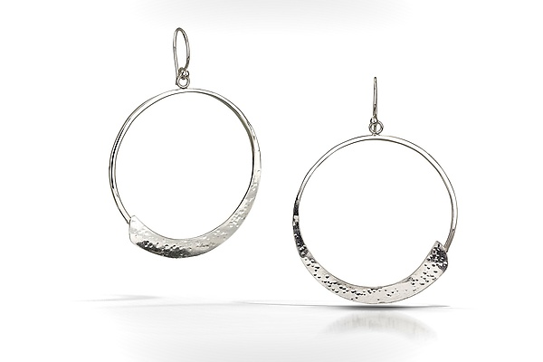 Forged Zen Circle Earrings
