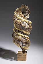 Spira Penna by Charissa Brock (Art Glass & Bamboo Sculpture)