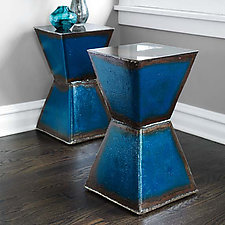 Hourglass Table by Ben Gatski and Kate Gatski (Metal Side Table)