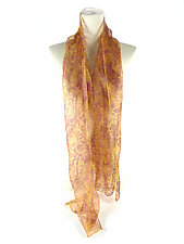 Fine Silk Two-Tone Mini Scarf by Yuh  Okano (Silk Scarf)