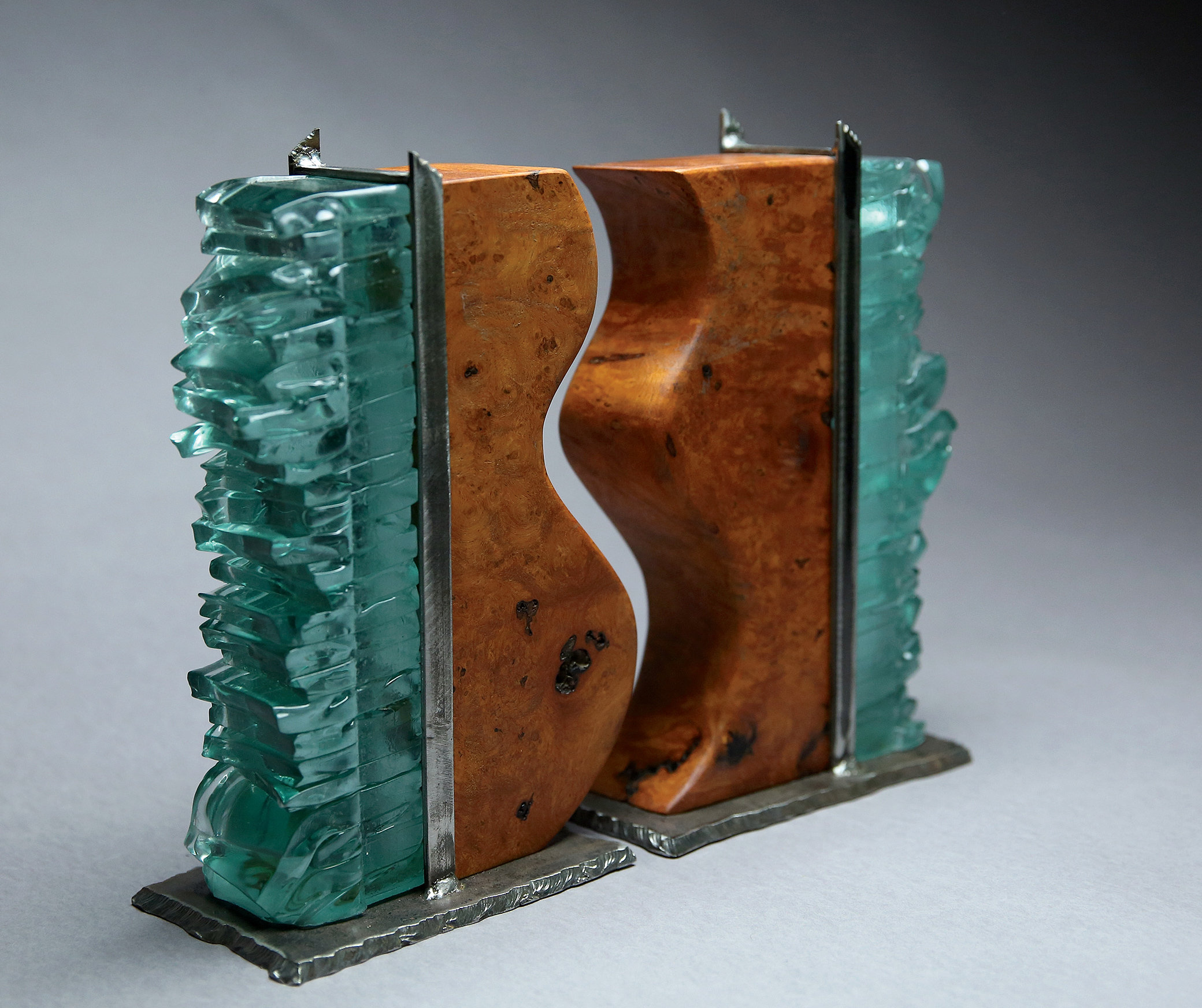 Together by mark wentz art glass wood sculpture