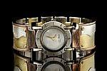 Full Moon Brass Wave by Eduardo Milieris (Silver & Brass Men's Watch)