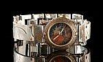 Porthole Silver Spirals by Eduardo Milieris (Silver & Brass Men's Watch)