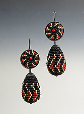 Ukrainian Beaded Earrings by Julie Long Gallegos (Beaded Earrings)