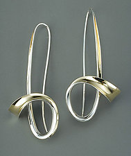 Flourish Earrings by Nancy Linkin (Gold & Silver Earrings)