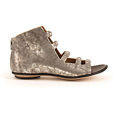 Caracal Sandal Burnished Silver by CYDWOQ  (Leather Shoe)