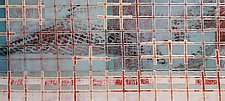 Snow on Snow Fences #3 by Jeanne Williamson  (Mixed-Media Wall Hanging)