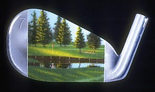 A Seven Iron by Michael Dupille (Art Glass Wall Sculpture)