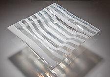 White Striped Bowl by Varda Avnisan (Art Glass Bowl)
