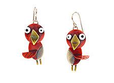 Songbird Earrings by Lisa and Scott  Cylinder (Metal Earrings)