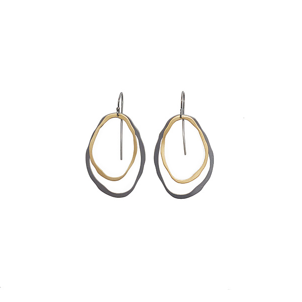 Double Thin Rough Cut Earrings
