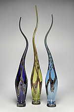 Swans Set V by Victor Chiarizia (Art Glass Sculpture)