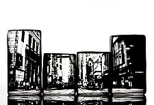 Street View by Nick Chase (Art Glass Sculpture)
