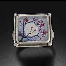 Moonblossom Ring by Ananda Khalsa (Silver Ring)