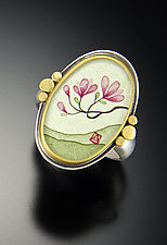 Magnolia Ring by Ananda Khalsa (Gold Ring)