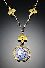 Plum Blossom Necklace by Ananda Khalsa (Gold & Silver Necklace)