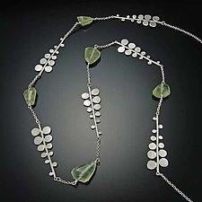 Fern Necklace by Ananda Khalsa (Silver & Stone Necklace)