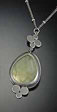 Prehnite Medium Multi Disk Necklace by Ananda Khalsa (Silver & Stone Necklace)