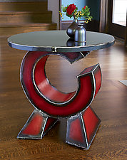 Orbit Side Table by Ben Gatski and Kate Gatski (Metal Side Table)