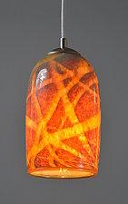 Milky Way Pendant in Sandstone by Rebecca Zhukov (Art Glass Pendant Lamp)