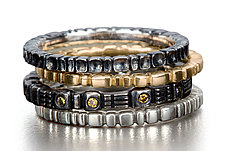 Stack Rings by Conni Mainne (Platinum, Gold & Silver Rings)