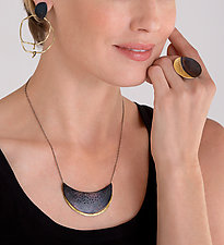 Crescent Necklace by Leia Zumbro (Steel & Brass Necklace)