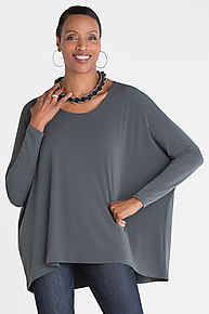 Matte Jersey Scoop Neck Tee by Planet   (Knit Tee)