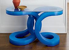 2U Hall Table by John Wilbar (Wood Console Table)
