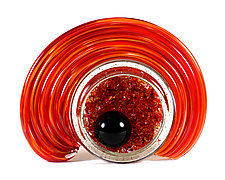 Celestial Geode - Orange and Red Mix by Thomas Kelly (Art Glass Sculpture)