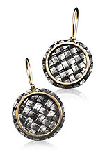 Basket Weave Earrings by Linda Bernasconi (Gold & Silver Earrings)