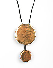 Gold Discs Pendant by Syra Gomez (Ceramic Necklace)