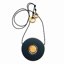 Floating Disk Pendant Necklace by Syra Gomez (Ceramic Necklace)