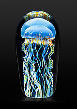Moon Jellyfish Mini by Richard Satava (Art Glass Sculpture)