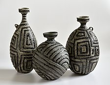 Ancient Bottles by Boyan Moskov (Ceramic Sculpture)