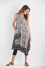 Ombre Mud-Dye Shibori Tank Dress by Mieko Mintz (Cotton Dress)