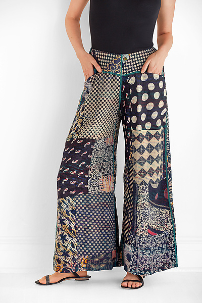 Kantha Patched Gaucho Pant