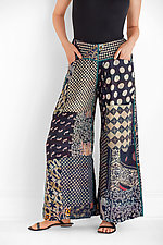 Kantha Patched Gaucho Pant by Mieko Mintz  (Cotton Pant)
