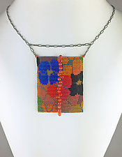 California Dream Beadwork Necklace with Carnelians by Julie Long Gallegos (Beaded Necklace)