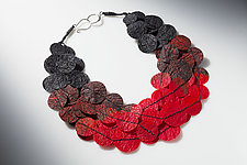 Joomchi Five Strand Necklace by Nancy Raasch (Paper Necklace)